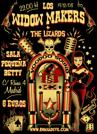 LOS WIDOW MAKERS POSTER DESIGNED  BY BWANADEVIL