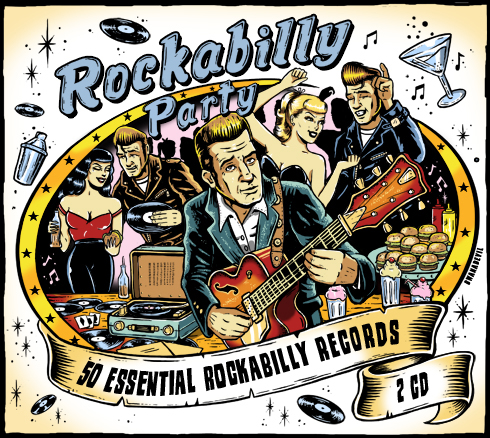 cd cover, rockabilly party, rockabilly cd, rockabilly illustration, rockabilly band, cd art, cd artwork, cd commission, bwanadevilart, pinup, hotrod, psychobilly art, comic art, lowbrow art, union square music, vintage, art for bands, logo for bands, design for bands, band poster