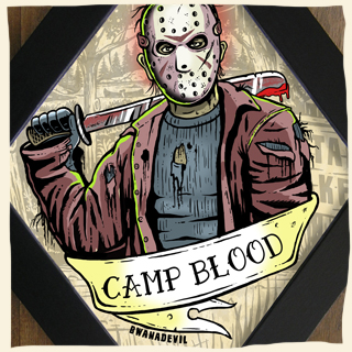 Jason Voorhees from Friday the 13th. Camp blood diamond framed art by BwanaDevil art. Jason, jason Voorhees, friday the 13th, camp blood, crystal lake, horror art, custom art, classic horror, horror classics, halloween art, diamond frame, psychobilly, spooky art, creepy art, monster art, jason voorhees illustration,  wood frame, hand made,custom art, lowbrow,serial killer, psychobilly, slasher , halloween, horror movie, classic horror movie, horror geek, psychobilly art, monster art, psycho art, horror decor, home decor, horror geek