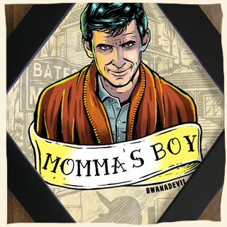 Norman Bates from Alfred Hitchcock's Psycho. Momma's boy diamond framed art by BwanaDevil. Marion Crane, Janet Leigh, psycho, Alfred Hitchcock, bates motel, psycho shower scene, psycho art, norman bates, anthony perkins, motel bates illustration, horror movie, horror classics, classic horror movie, diamond frame, horror art, psychobilly art, bwanadevil art, psycho illustration, alfred hitchcock art, vacancy, framed art, hand made, low brow art, tattoo art, horror decor, home decor, terror, horror addicts, horror geek, halloween art, serial killer art, spain, madrid, made in spain